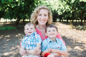 Shelly Williams and her two  young sons