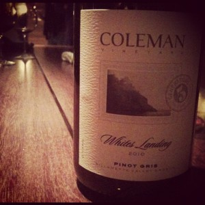Coleman Vineyards Pinot Gris