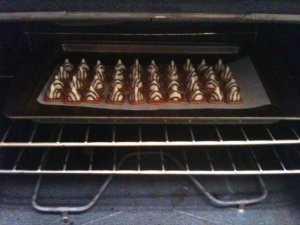 Hersey Kisses in Oven