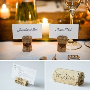 Wine cork name place holders