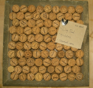 wine cork message board