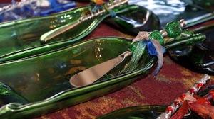 Wine Bottle Bread Plate