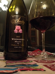 Amity Vineyads Pinot Noir
