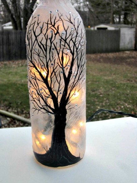 wine bottle night light