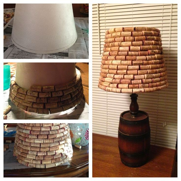 10 wine cork crafts to lighten your holidays oregon for Wine cork lampshade