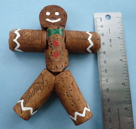 wine cork gingerbread man