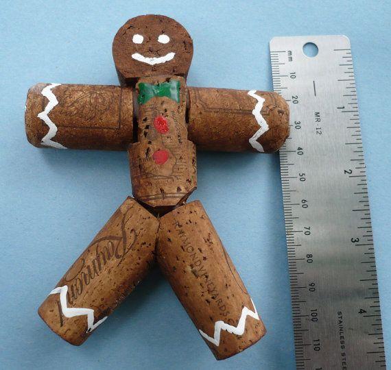 wine cork gingerbread man